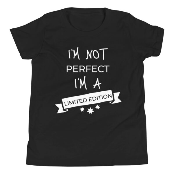 """Kinder-T-Shirt """"I'm not perfect, I'm a limited edition"""""""